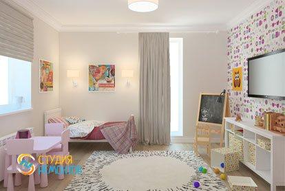 Ремонт детской в квартире 61 кв. м. в классическом стиле
