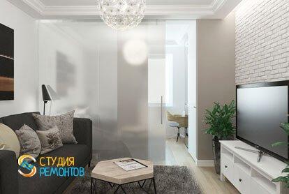 Ремонт гостиной в квартире 61 кв. м. в классическом стиле
