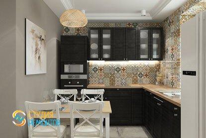Ремонт кухни в квартире 61 кв. м. в классическом стиле