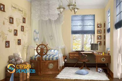 Евроремонт детской комнаты 9 м2