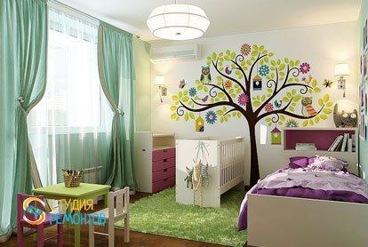 Капитальный ремонт детской комнаты 12 кв.м.