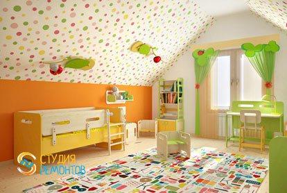 Капитальный ремонт детской комнаты 9 м2