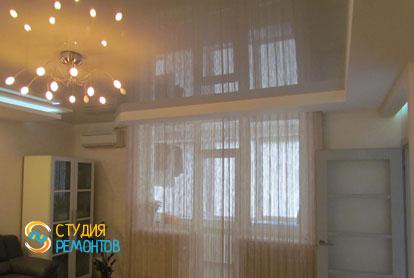 Евроремонт зала в трехкомнатной новостройке 71,5 кв.м. фото 2