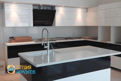 Косметический ремонт кухни в новостройке 60,5 кв.м.