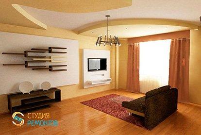 Евроремонт гостиной 23 м2