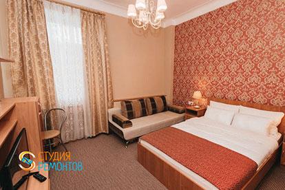 Капремонт спальной комнаты однокомнатной квартиры 20 метров в Одинцово