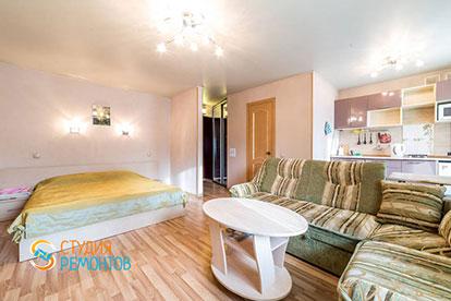 Косметический ремонт гостиной со спальней квартиры-студии 27,3 кв.м в Одинцово фото-2