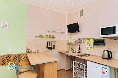 Косметический ремонт кухни-гостиной двухкомнатной квартиры 32,5 м2 в Одинцово фото-1