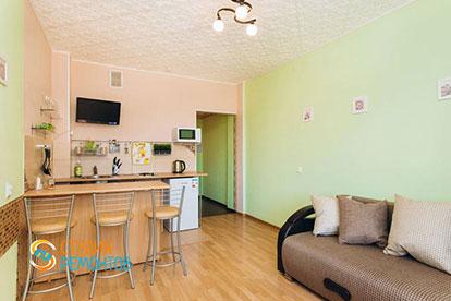Косметический ремонт кухни-гостиной двухкомнатной квартиры 32,5 м2 в Одинцово фото-2