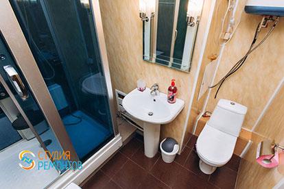 Косметический ремонт санузла двухкомнатной квартиры 32,5 м2 в Одинцово фото-1