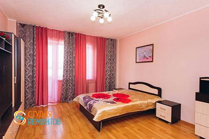 Косметический ремонт спальни двухкомнатной квартиры 32,5 м2 в Одинцово фото-1