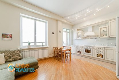 Капремонт комнаты и кухни в квартире-студии 26 кв.м.