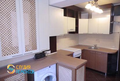 Косметический ремонт кухни в однокомнатной квартире 35 кв.м.