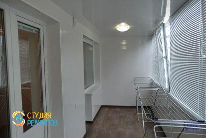 Косметический ремонт лоджии в однокомнатной квартире 35 кв.м.