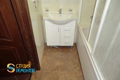 Косметический ремонт ванной в однокомнатной квартире 35 кв.м.