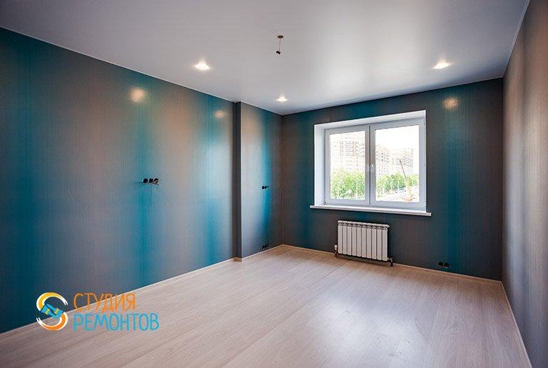 Капитальный ремонт жилой комнаты в 3-х комнатной квартире