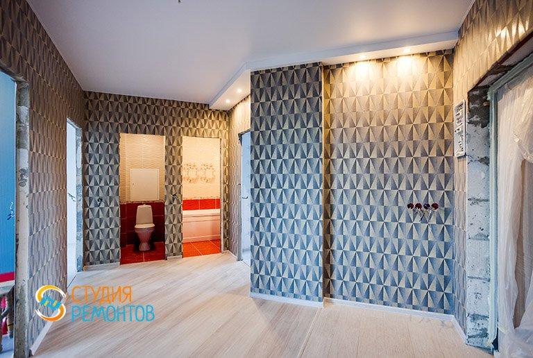 Капитальный ремонт жилой комнаты в 2-х комнатной квартире 60,8 кв.м