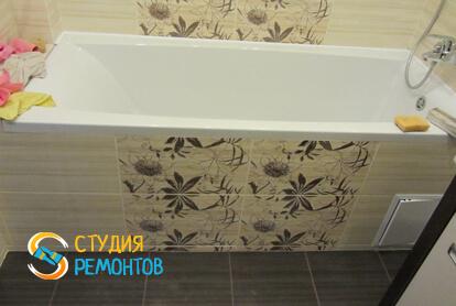 Евроремонт ванной комнаты в квартире-студии 23 кв.м.
