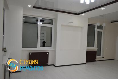 Евроремонт жилой комнаты в квартире-студии 27,2 кв.м. фото 2