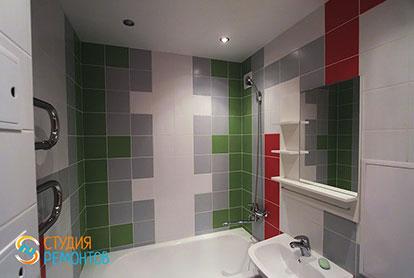 Косметический ремонт ванной 2,9 м2 - 42 200 рублей