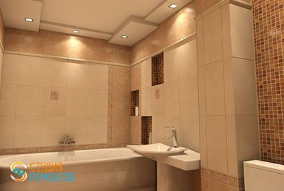 Ремонт ванной 4 м2 под ключ
